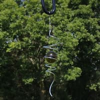 Sunnydaze 11-Inch Cyclone Tail Wind Spinner with Hook - Multiple Colors