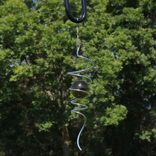 Sunnydaze 11-Inch Cyclone Tail Wind Spinner with Hook - Multiple Colors (2 options available)