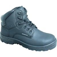 "S Fellas by Genuine Grip Men's 6060 Poseidon Waterproof 6"" Hiker Work Boot Black Full Grain Leather"