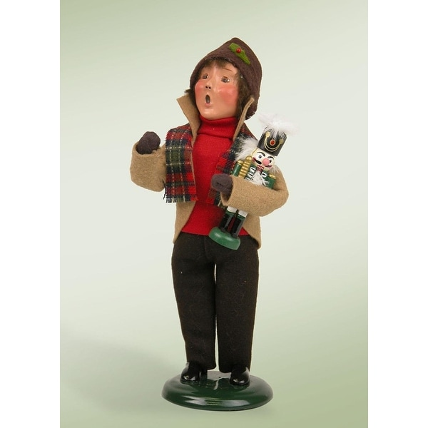 "9"" Festive Seasons Boy with Nutcracker Christmas Figure"
