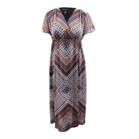 INC International Concepts Women's Plus Printed Maxi Dress - Global Patch
