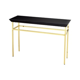 brass console table. Cyan Design Calzada Console Table 48 Inch Long Brass And Black Glass -