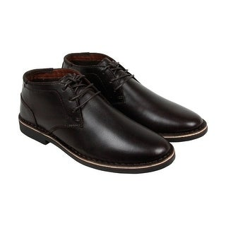 Kenneth Cole Desert Sun Mens Black Leather Casual Dress Lace Up Oxfords Shoes