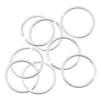 Sterling Silver Open Jump Rings 8mm 21 Gauge (x10)