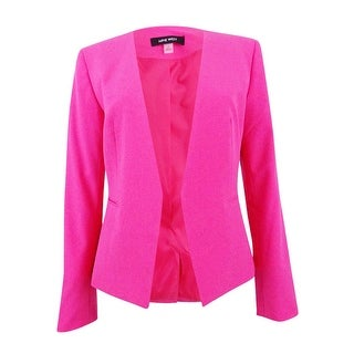 Nine West Women's Open-Front Blazer Front Jacket - Candy
