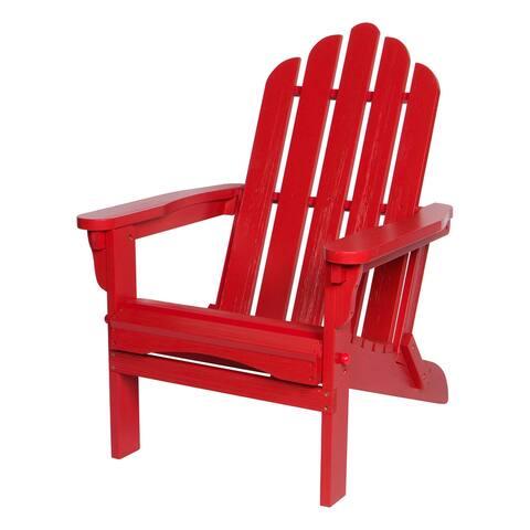 Shine Company Marina II Folding Adirondack Chair with Hydro-TEX Finish