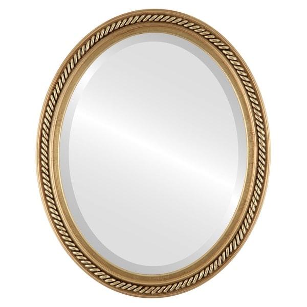 Santa Fe Framed Oval Mirror in Antique Gold Leaf. Opens flyout.