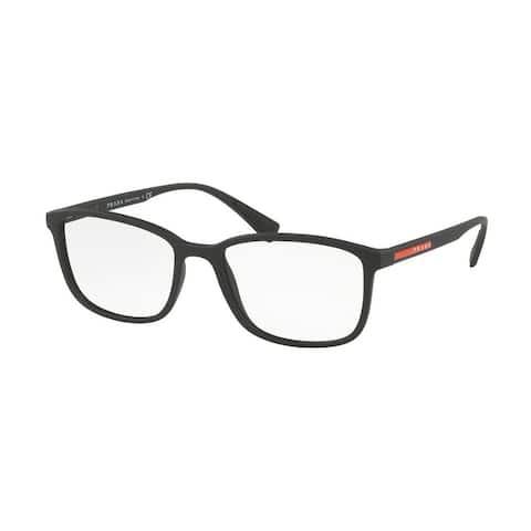 Prada Linea Rossa PS 04IV DG01O1 53 Black Rubber Man Rectangle Eyeglasses