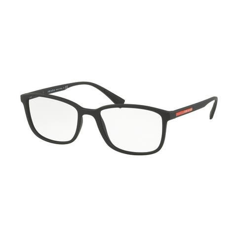 Prada Linea Rossa PS 04IV DG01O1 55 Black Rubber Man Rectangle Eyeglasses