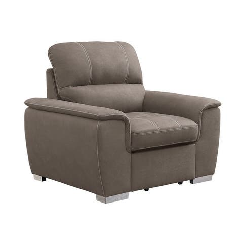 Gilberts Chair with Pull-out Ottoman