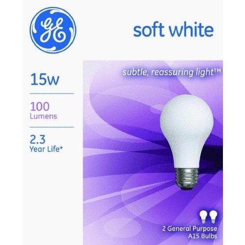 GE 97491 Soft Light Bulb, 15 Watt, 100 Lumen