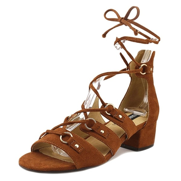 Design Lab Lord & Taylor Eldy Women Open Toe Suede Brown Sandals