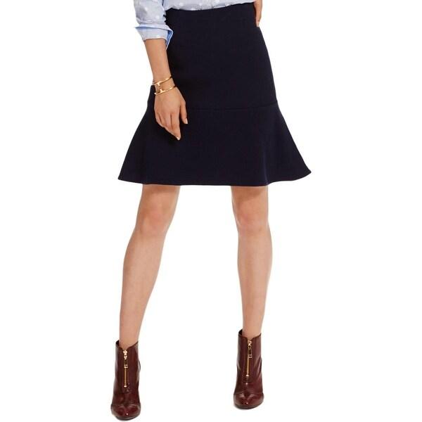 Tommy Hilfiger Womens A-Line Skirt Pattern Trumpet
