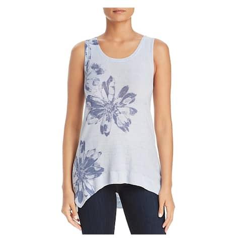 Donna Karan Womens Tank Top Sweater Linen Hi-Low