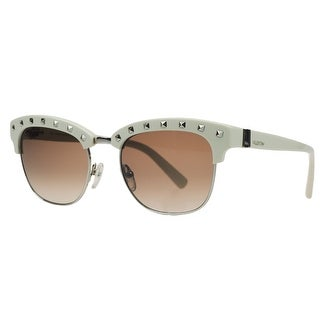 Valentino V 112/S 103 Ivory/Silver Clubmaster Sunglasses