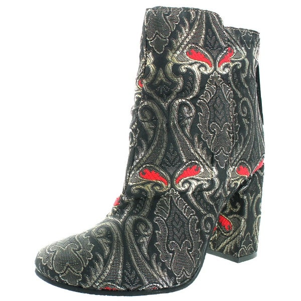 Naughty Monkey Nadonna Women's Embroidered Ankle Boots Booties Velvet or Brocade