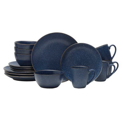 Mikasa Gourmet Basics Juliana Blue 16-piece Dinnerware Set