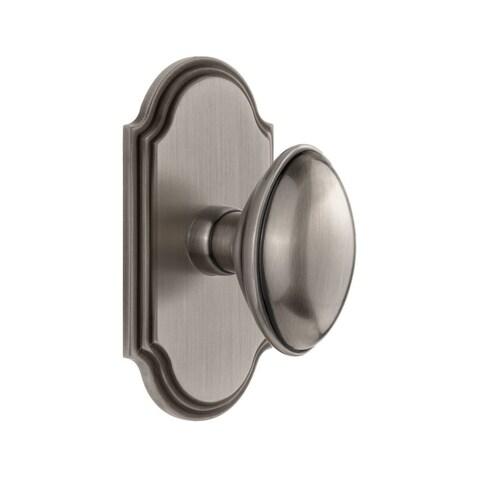 Grandeur ARCEDN_DD_NA Arc Solid Brass Dummy Door Knob Set with Eden Prairie Knob - N/A