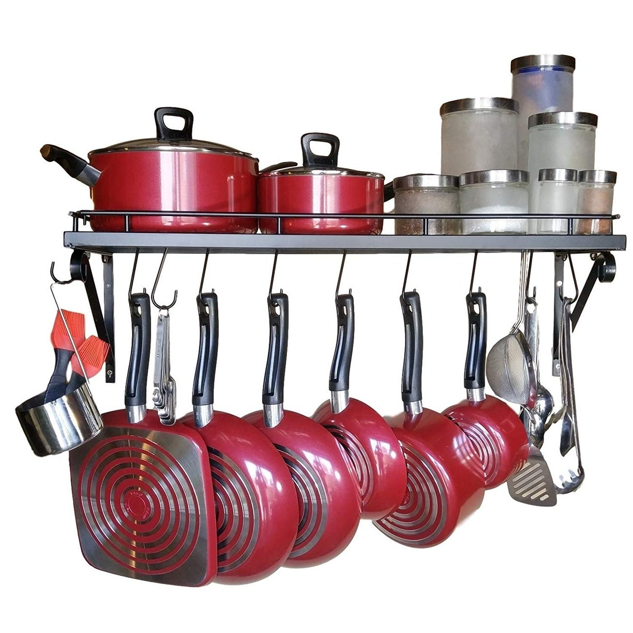 Shop 24 25 30 Wall Mounted Pots And Pans Rack Overstock 31224906