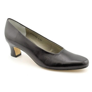 Ros Hommerson Vicki Women Round Toe Patent Leather Black Heels