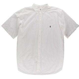 Ralph Lauren Mens Big & Tall Dress Shirt Shadow Stripe Signature