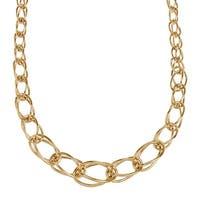 """Eternity Gold Oval Graduated Link Necklace in 14K Gold, 18"""" - Yellow"""