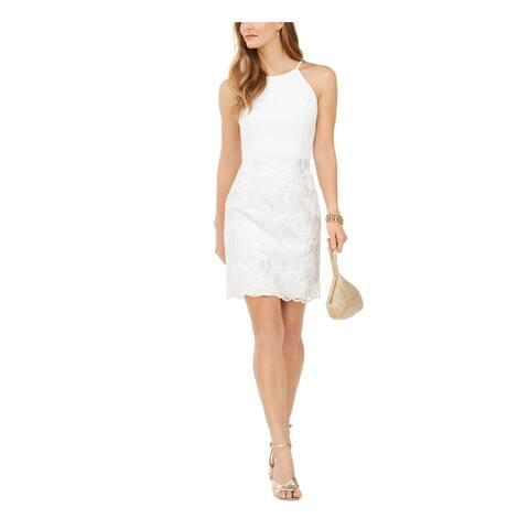 VINCE CAMUTO White Spaghetti Strap Short Dress 6