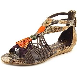 Chinese Laundry Suzukii Women Open Toe Synthetic Brown Gladiator Sandal