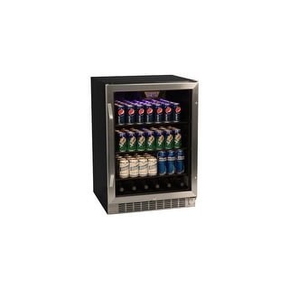 Edgestar Cbr1501sg 24 Wide 148 Can Built In Beverage Cooler With Tinted Door Stainless Steel N A Free Shipping Today 14270260