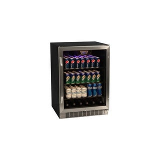 EdgeStar CBR1501SG 24 Inch Wide 148 Can Built-In Beverage Cooler with Tinted Door