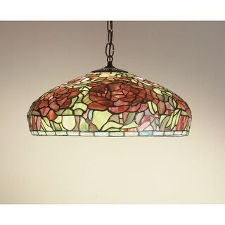 "Meyda Tiffany 51860 Single Light 17"" Wide Pendant with Handmade Shade"