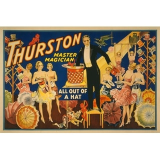 Thurston Magician Out of a Hat Magic - Vintage Ad (Chef's Cotton/Poly Apron)