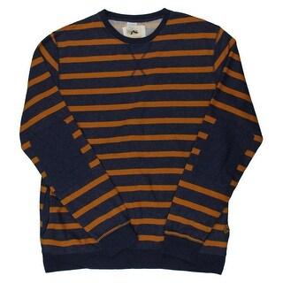 Rusty Mens Marled Striped Crew Sweatshirt - XL