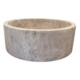Cylindrical Natural Stone Vessel Sink - Antico Travertine