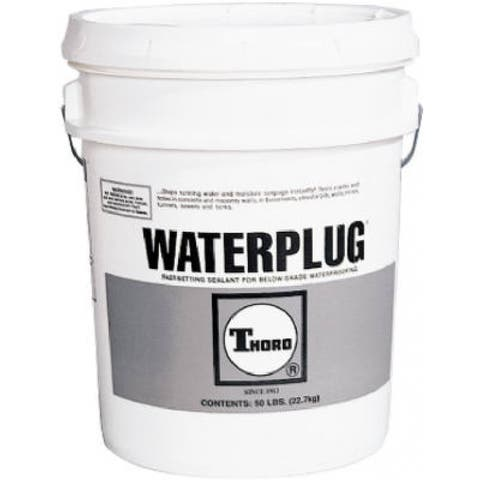 Thoro T1663 Waterplug Cement-Based Quick Set Hydraulic Cement, 50 Lb