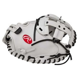 "Rawlings Liberty Womens 34"" Catchers Softball Glove RHT White RLACM34-3/0 (RHT)"