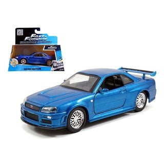 Brian\'s Nissan Skyline GT-R R34 Blue Fast & Furious Movie 1/32 Diecast Car Model by Jada