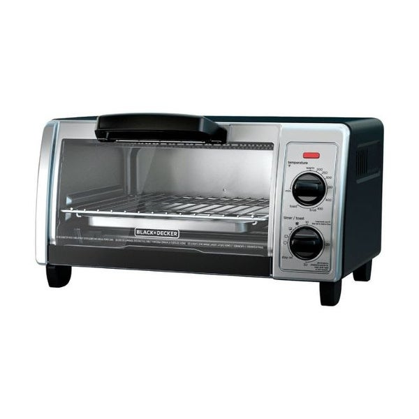 Black and Decker Chrome Black/Silver Convection Toaster Oven. Opens flyout.