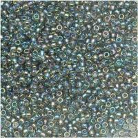Toho Round Seed Beads 15/0 176 'Transparent Rainbow Black Diamond' 8g