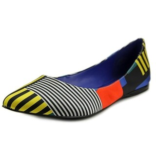 Nine West Speak Up Women Round Toe Canvas Multi Color Flats