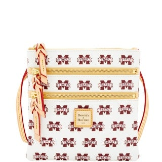 Dooney & Bourke NCAA Mississippi State Triple Zip Crossbody (Introduced by Dooney & Bourke at $128 in Jan 2016) - White