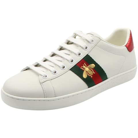 Gucci Women's Bee New Ace Sneaker Ankle-High Leather