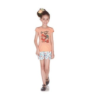 Pulla Bulla Little Girl Set Graphic Shirt and Shorts Outfit