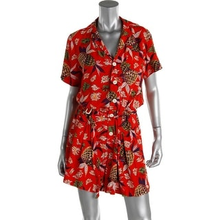 Polo Ralph Lauren Womens Short Sleeves Printed Romper - 12