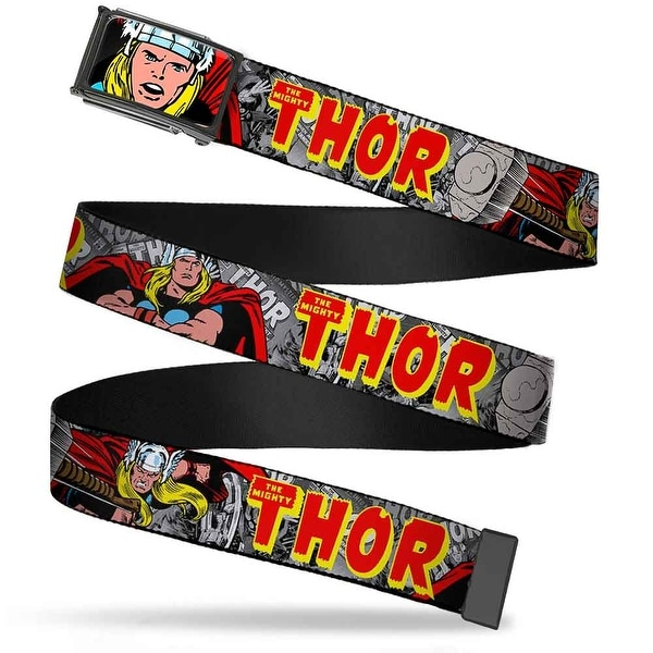 Marvel Comics Thor Face Close Up Fcg Chrome The Mighty Thor Action Web Belt