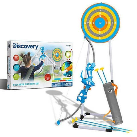 Discovery Kids Bullseye Outdoor Archery Set in Blue/Grey