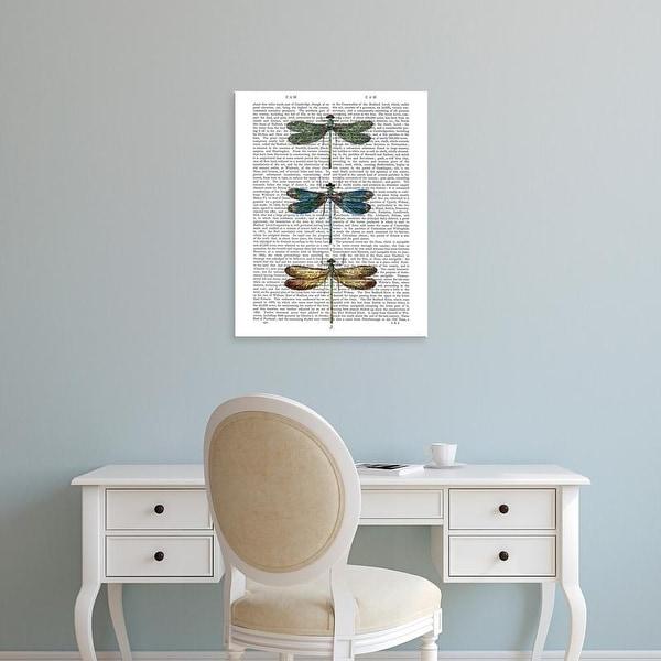 Easy Art Prints Fab Funky's 'Dragonflies Print 1' Premium Canvas Art