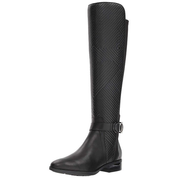 Vince Camuto Womens Pordalia Leather Closed Toe Mid-Calf Fashion Boots