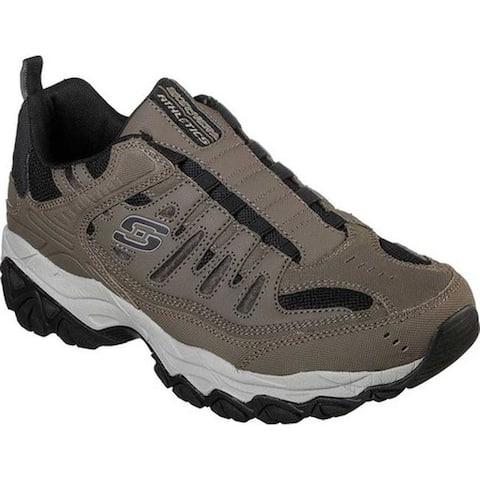 Skechers Men's After Burn M. Fit Slip-On Walking Shoe Brown