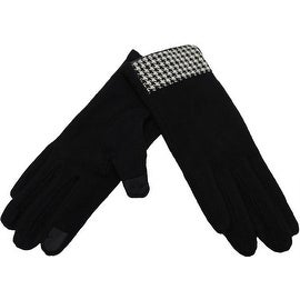 Elegant Wool Gloves Accent Fingertips Touchscreen Texting, Fall Winter, Cell Phone Text